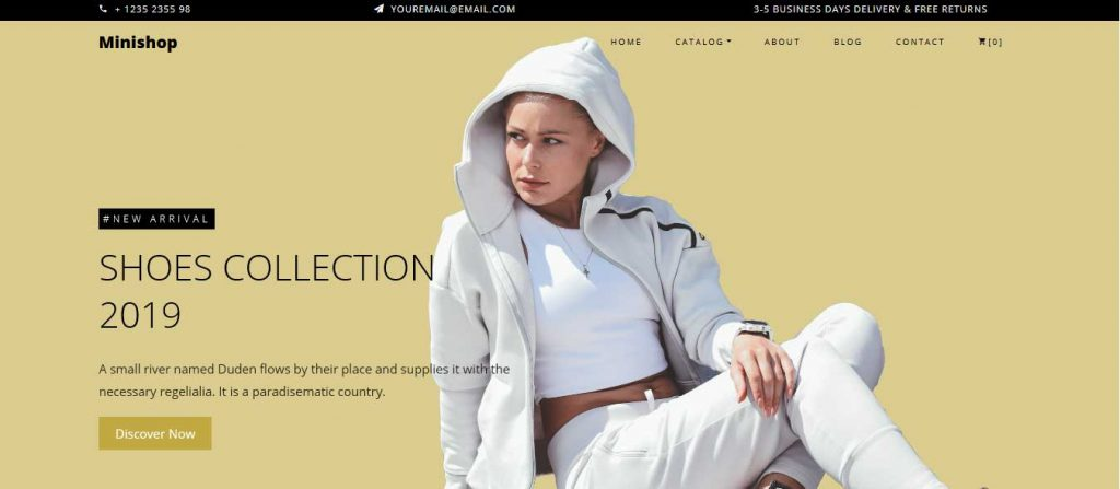 minishop : thème pour site d'ecommerce