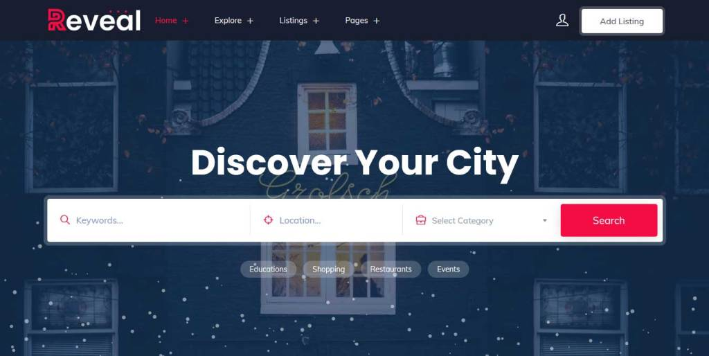 Reveal : Thème wordpress pour site d'immobilier