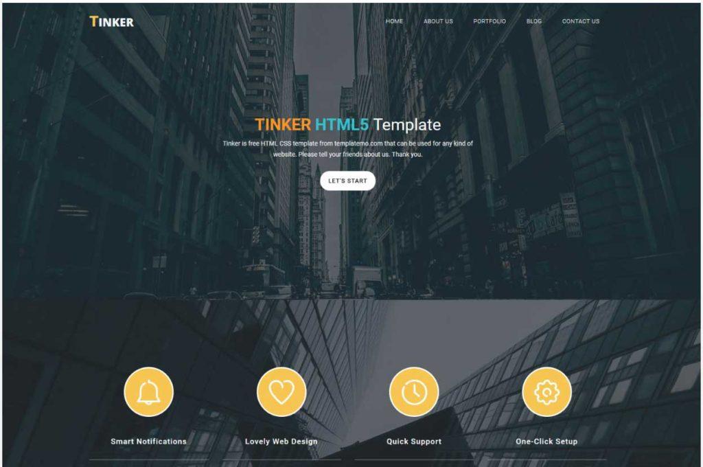 tinker : Thème html css responsive