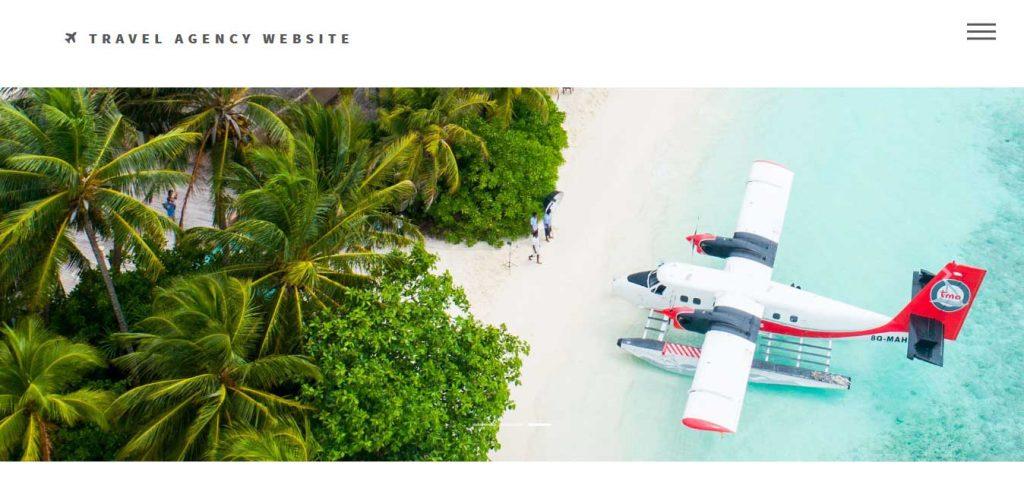 modèle de site web d'entreprise de voyage gratuit