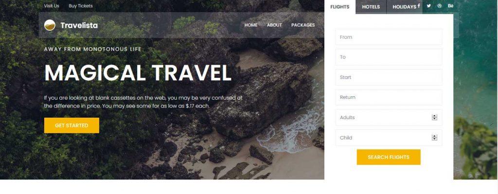 Travelista : template bootstrap agence de voyages gratuit