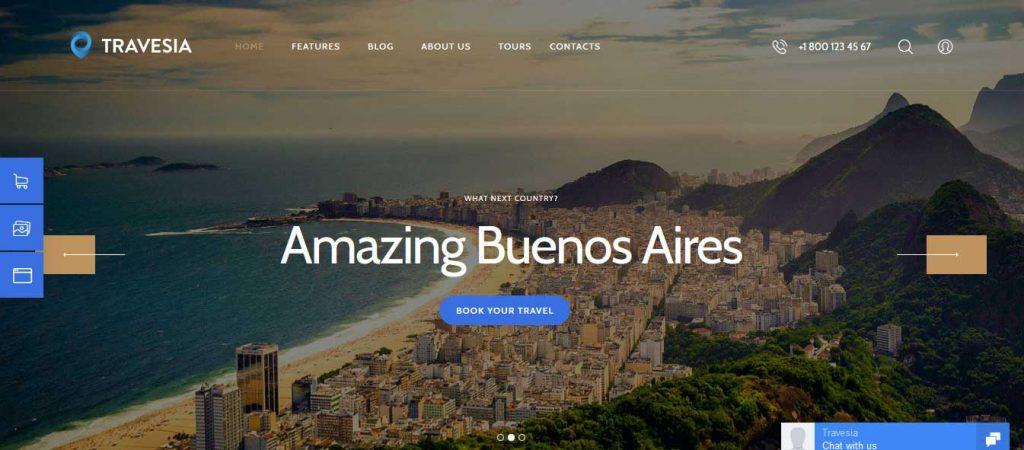 Travesia : thème premium pour agence de voyage