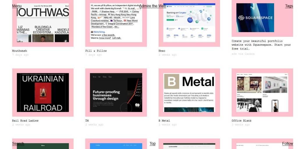 site admire the web