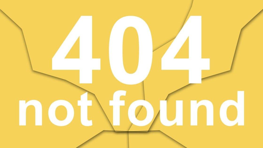 corriger une erreur 404