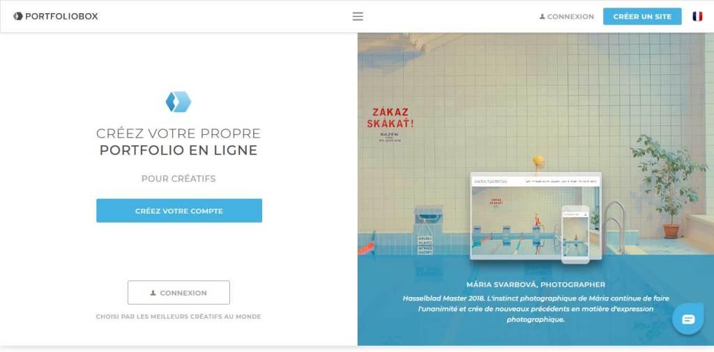 portfoliobox : créateur de site internet