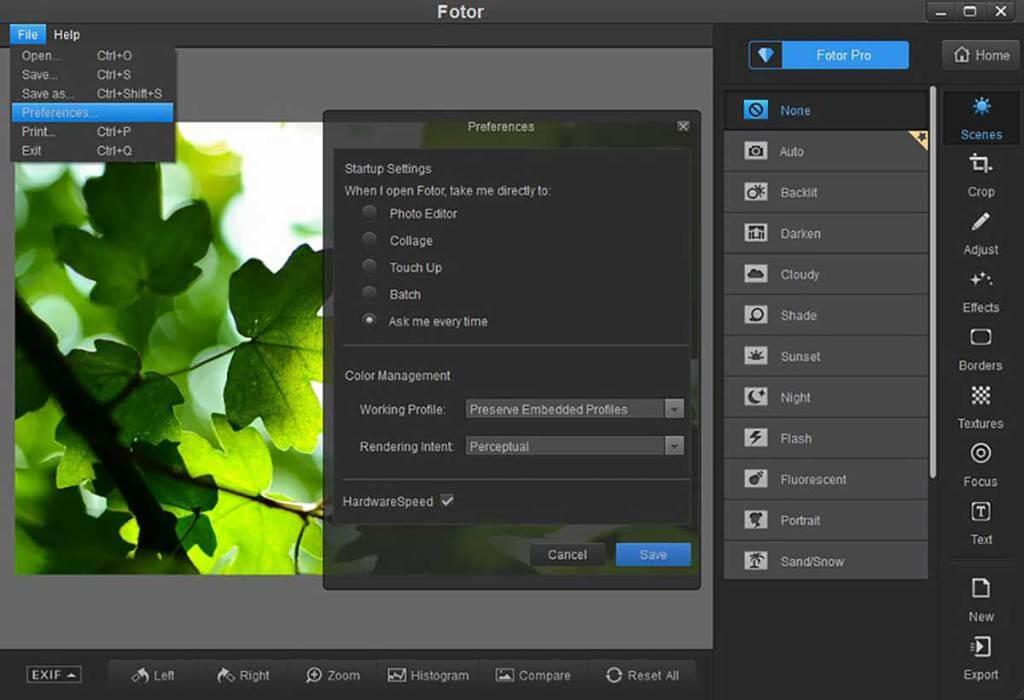 fotor : logiciel de retouche photo
