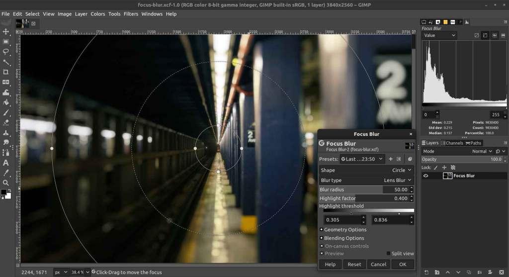 gimp : logiciel de retouche photo
