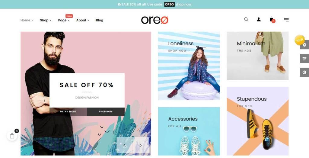 at oreo : thème prestashhop de mode