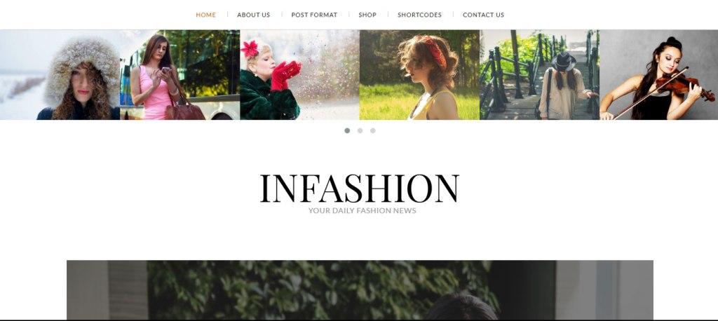 thème wordpress de mode infashion