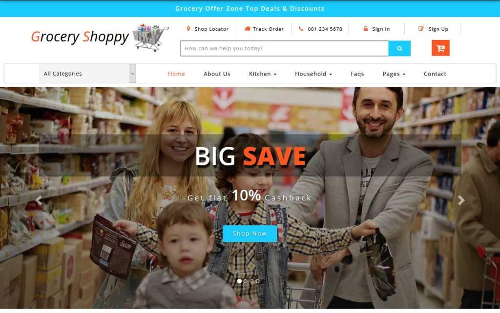 grocery shoppy : thème ecommerce gratuit