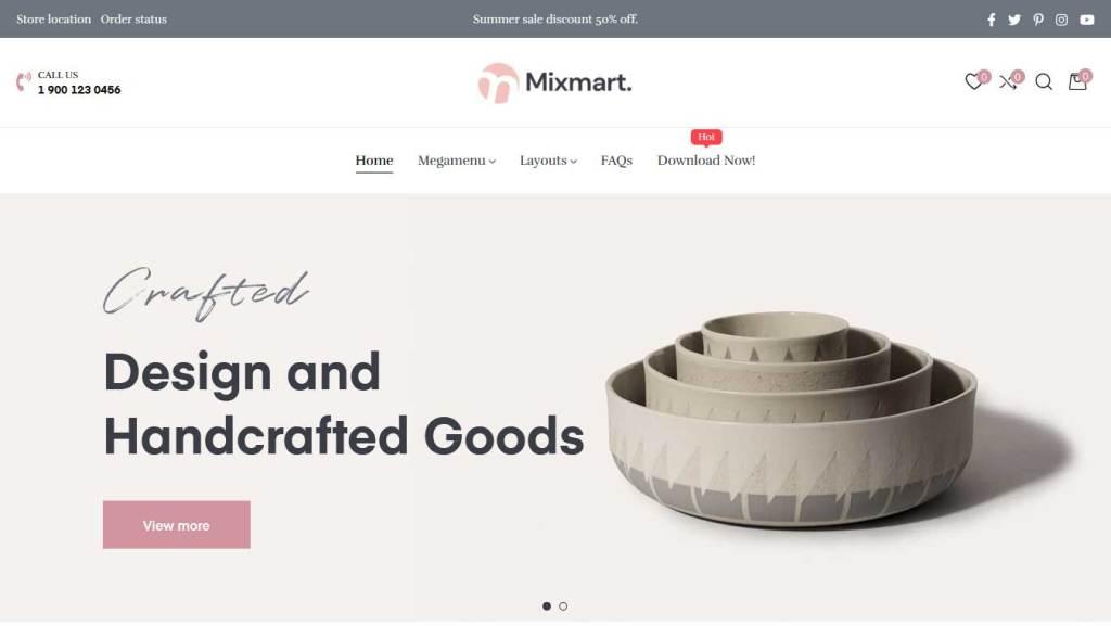 ap mixmart thème gratuit shopify