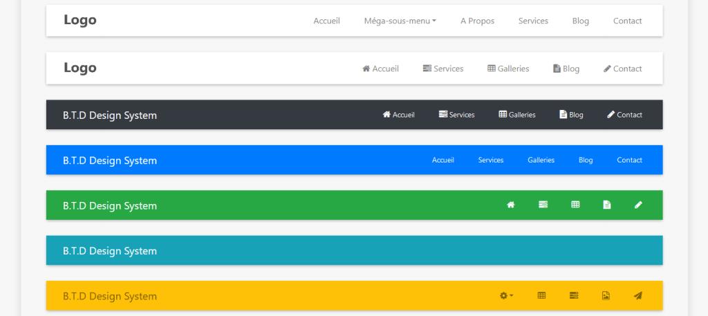 réaliser une barre de navigations bootstrap