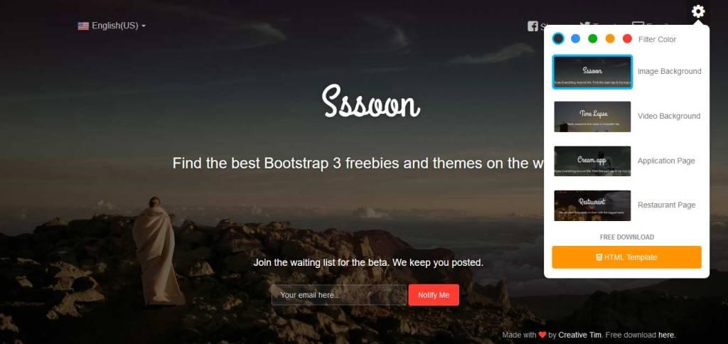 coming soon : thème gratuit bootstrap