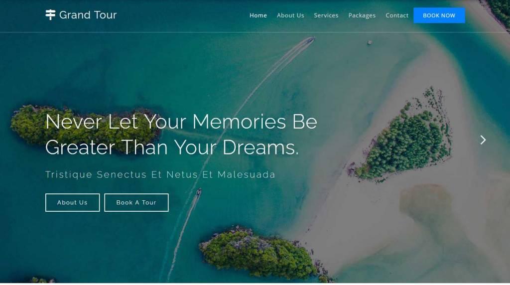 grand tour : template bootstrap agence de voyage gratuit