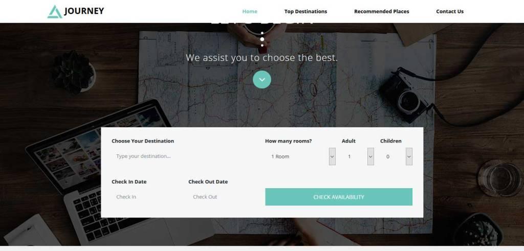 journey : template bootstrap agence de voyage gratuit