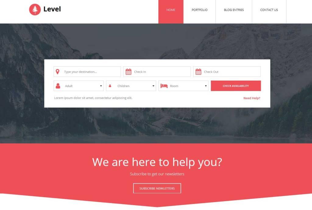 level : template bootstrap agence de voyage gratuit