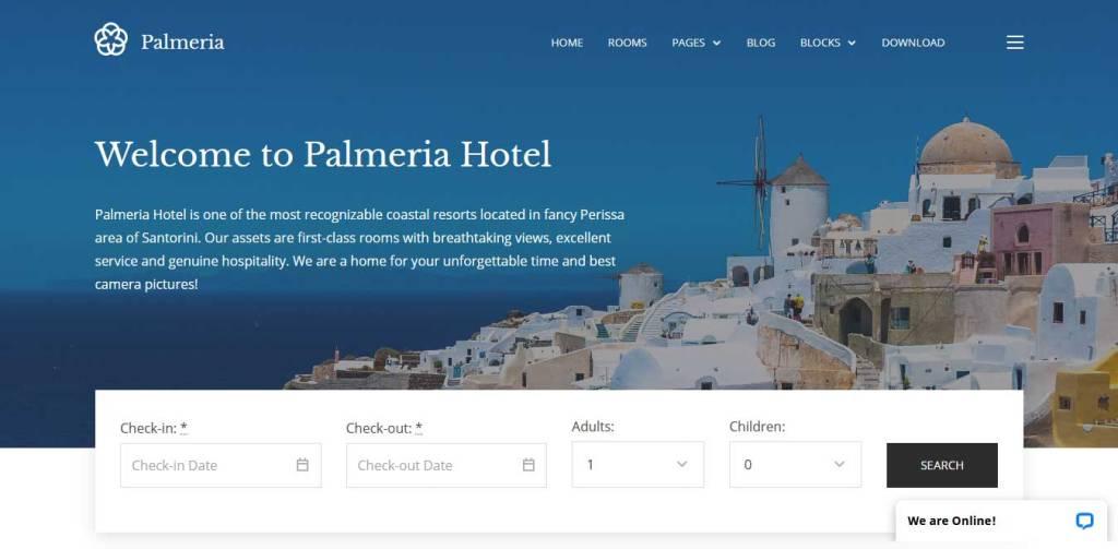 palmeria : thème immobilier gratuit