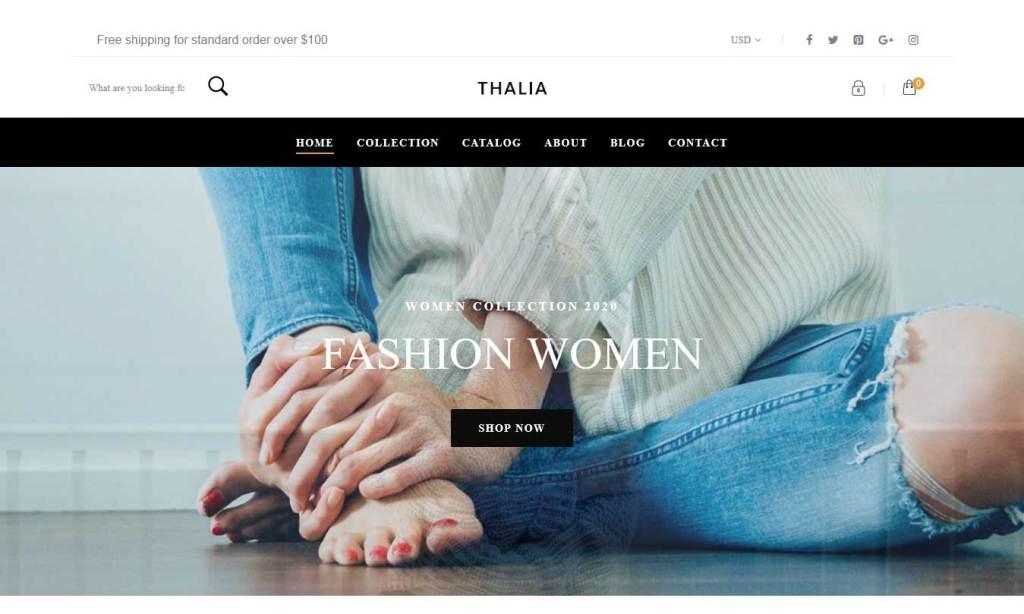 thalia thème gratuit shopify