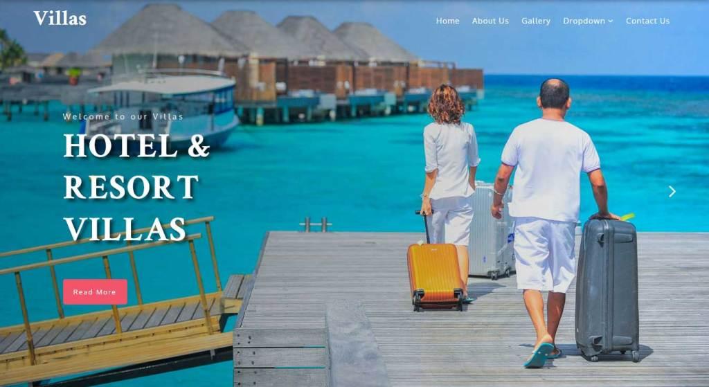 villas : template bootstrap agence de voyage gratuit