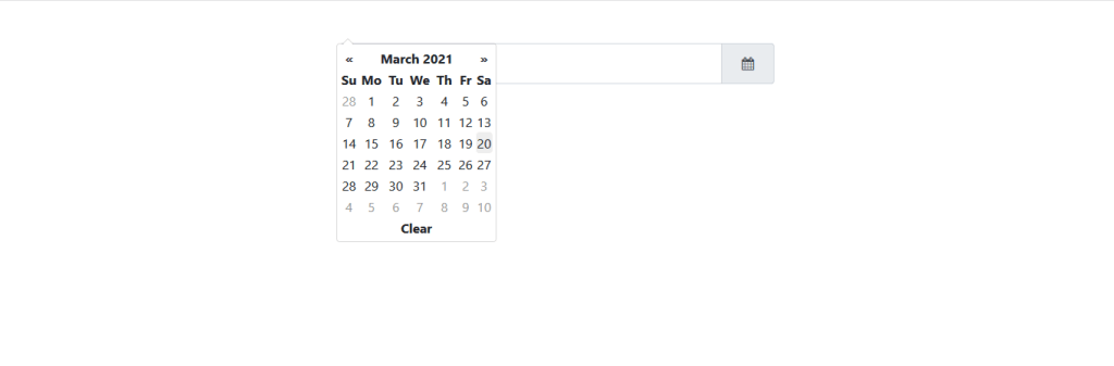 capture de bootstrap datepicker