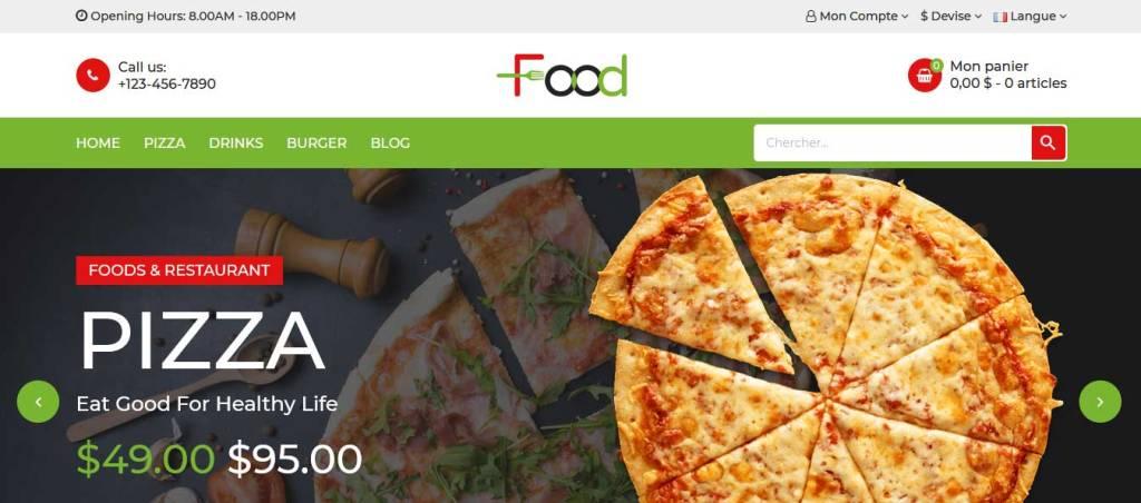 food : thème premium prestashop