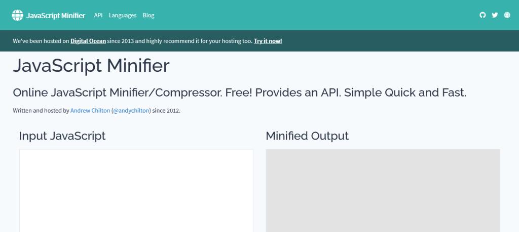 Javascript Minifier : outil de compression de code js