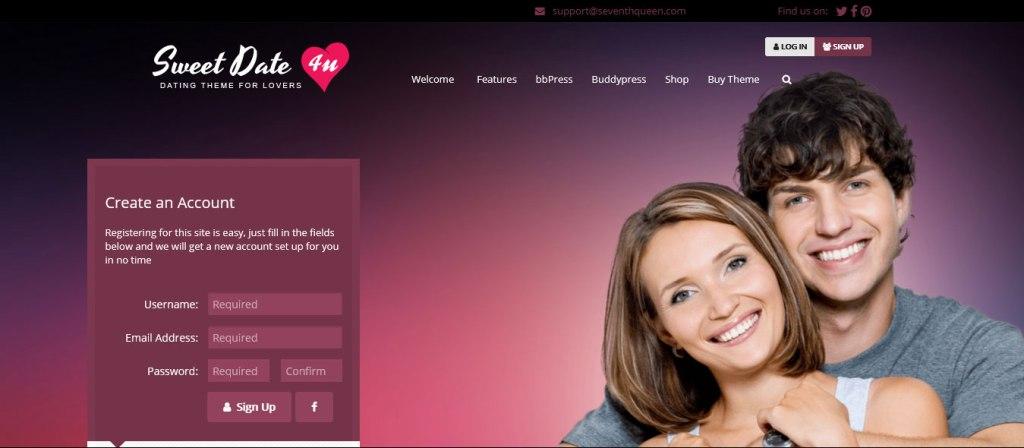Sweet Date: thèmes wordpress pour site de rencontre