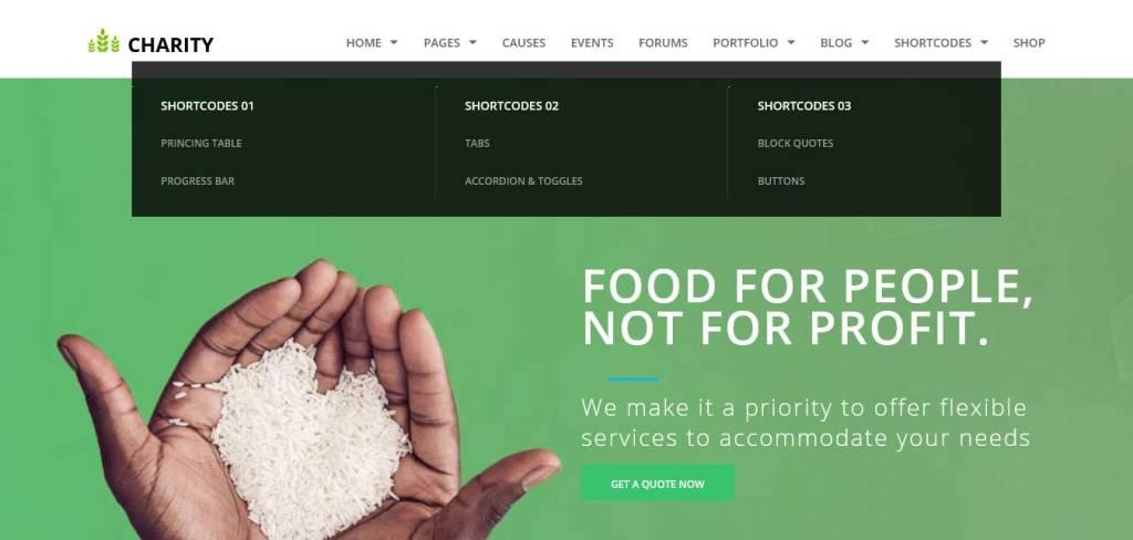 charity : thèmes wordpress pour site d'association