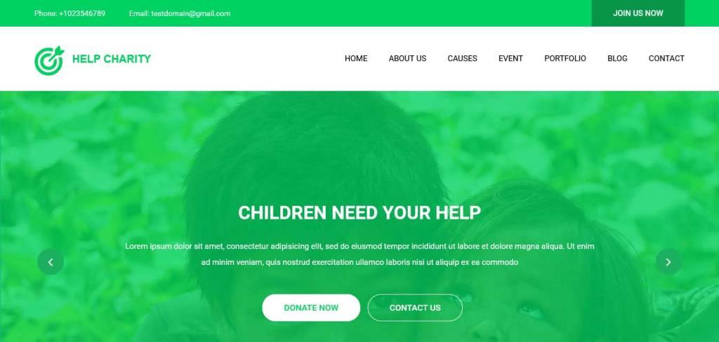 help charity : thèmes gratuits pour site d'association