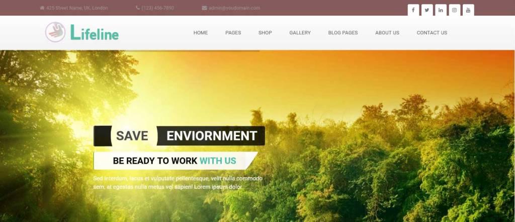 lifeline : thèmes wordpress pour site d'association