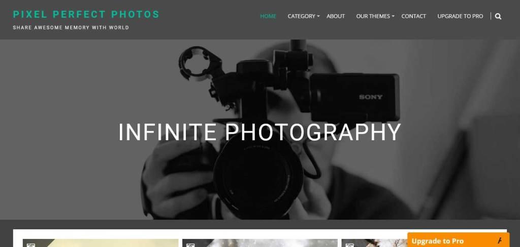 infinite photography : thèmes wordpress gratuits pour photographes