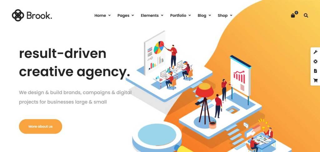 brook : thèmes wordpress pour agence web