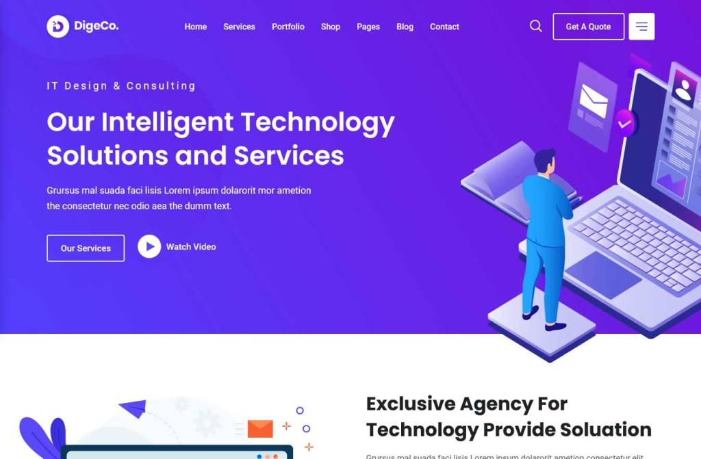 digeco : thèmes wordpress pour agence web