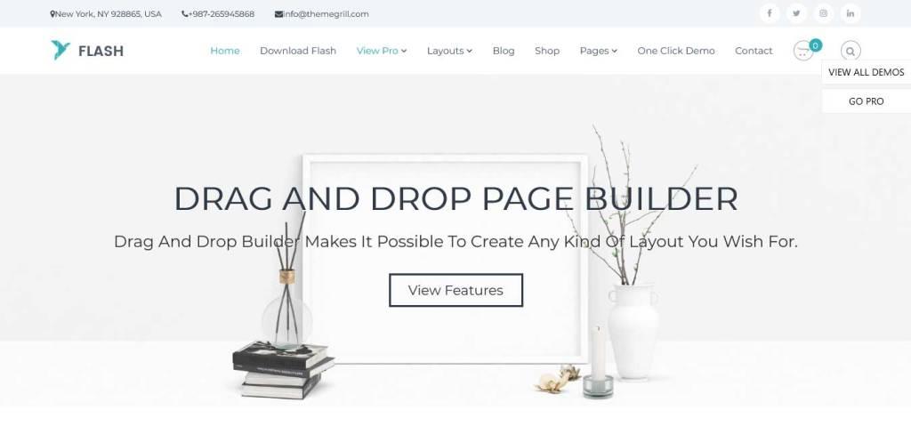 flash : thèmes WordPress gratuits pour agence web
