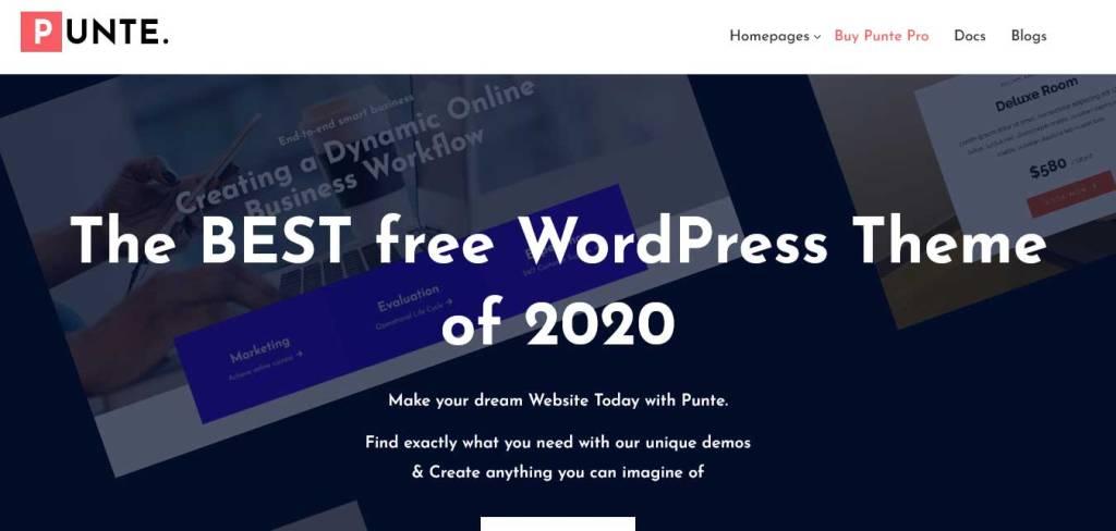 punte : thèmes WordPress gratuits pour agence web
