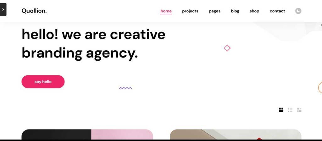 quollion : thèmes wordpress pour agence web