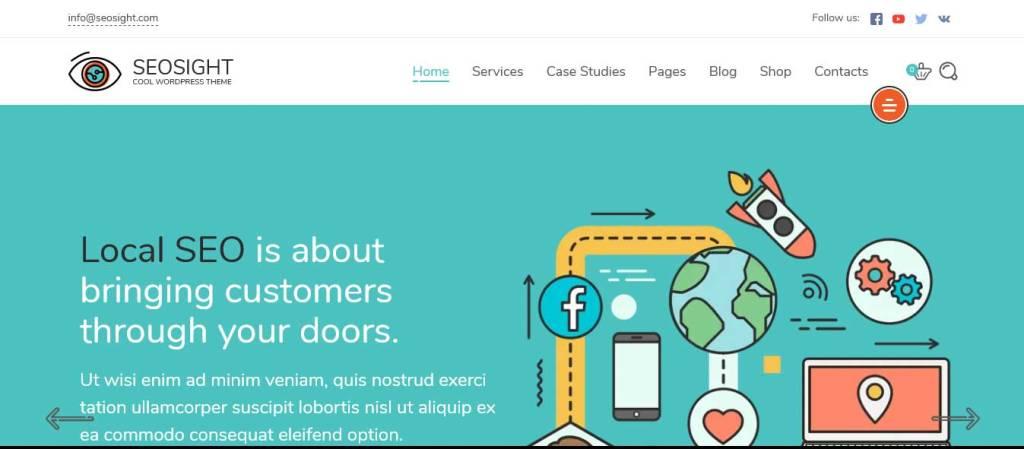 seosight : thèmes wordpress pour agence web