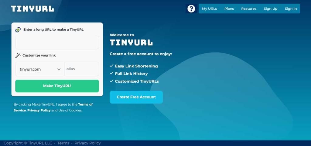 tinyURL : raccourcisseurs de lien