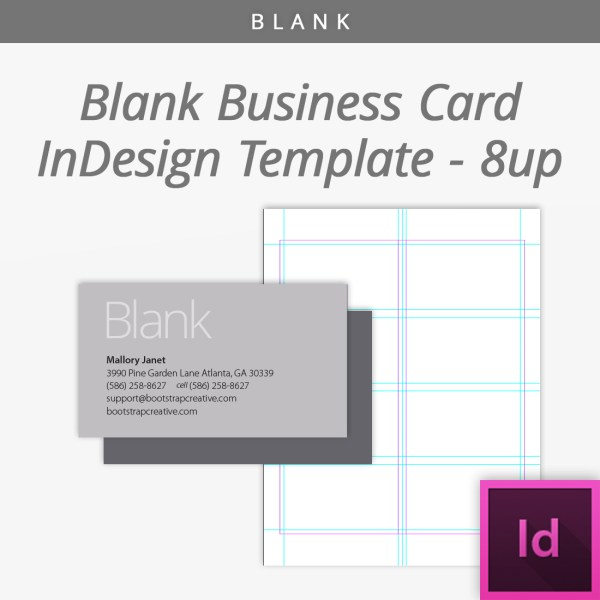 blank business card template bc shop
