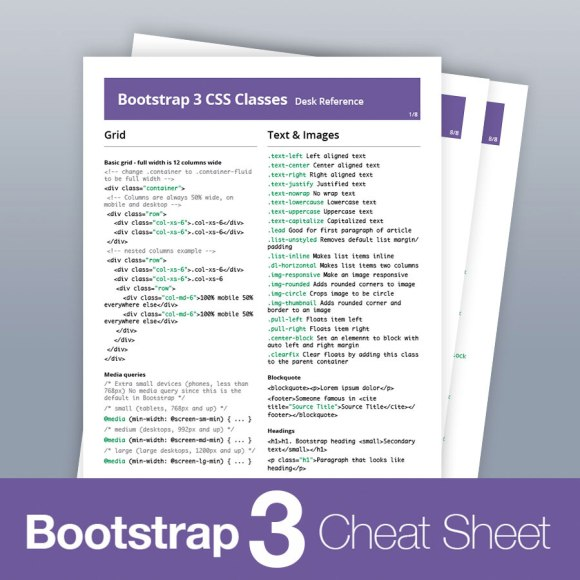 bootstrap 3 classes cheat sheet
