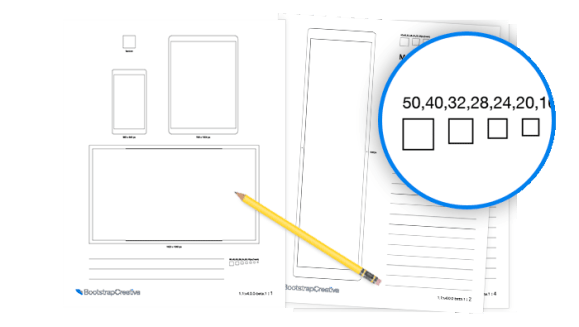 Bootstrap 4 Sketch Sheets PDF