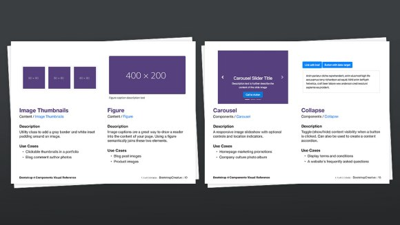Bootstrap 4 Components Visual Reference PDF