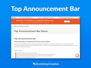 hubspot top announcement bar module