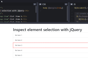 Pasted into How to Visually See What Your jQuery Selection is Selecting 1