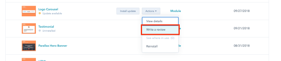 how to write a review for a hubspot theme or template
