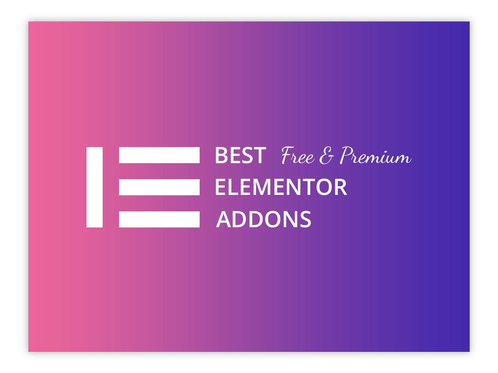 best free & premium elementor addons