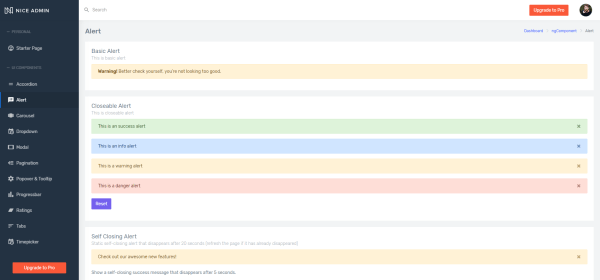Nice Admin Angular Lite in Best Angular 8 Admin Dashboard Templates