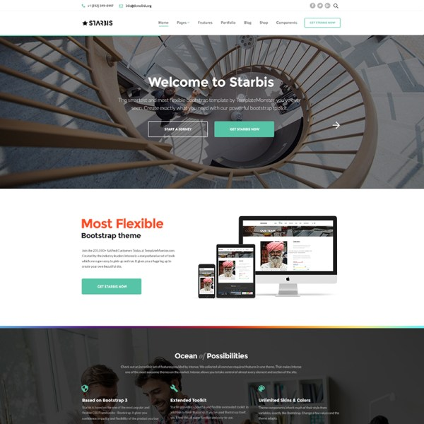 Starbis Bootstrap Template