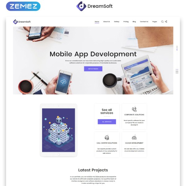 DreamSoft Bootstrap Template