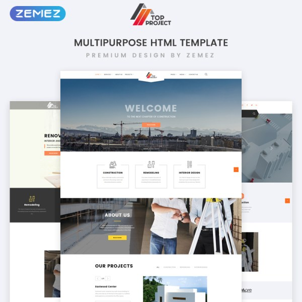 TopProject Bootstrap Template